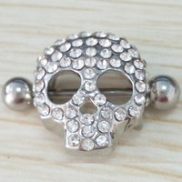 316L Surgical Steel Nipple Jewelry Skull Design Nipple Shield Nipple Ring Body Jewelry Nipple Piercing SM6