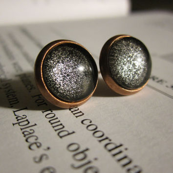 Black Hole - Earring studs - science jewelry - science earrings - galaxy jewelry - physics earrings - fake plugs - plug earrings - nebula