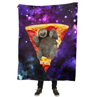 Pizza Sloth Blanket