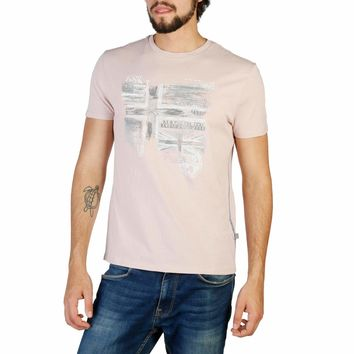 Napapijri Men Pink T-shirts