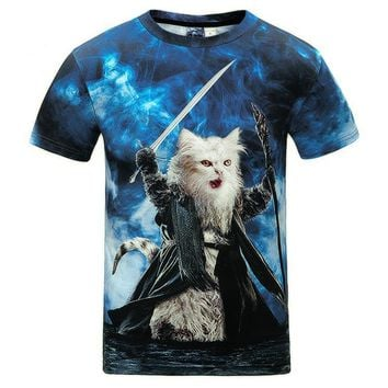 Star Cat - Sword/Galaxy - Unisex T-shirt - All Over Prints