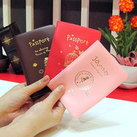 Passport Cover Documents Bag Utility PU Leather Passport Holder Travel Pouch ID Card Package Case for Men Women