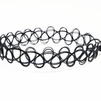 Classic Black Boho Choker Necklace (3 Pack)