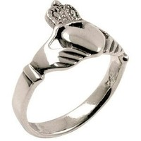 Sleek Claddagh - Silver Ring