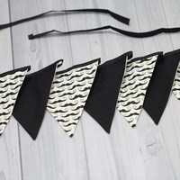 Mustache little man 7 Pennant Banner. Bunting flags. Baby Room Decor, Birthday, Baby Shower, Wedding. Photo Prop.