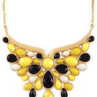 Black  Yellow Butterfly Necklace – Modeets