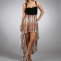 Multi Printed High Low Dress :: www.windsorstore.com