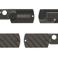 Dog Tag Folder CF/G-10 Laminate Black - Spyderco, Inc.
