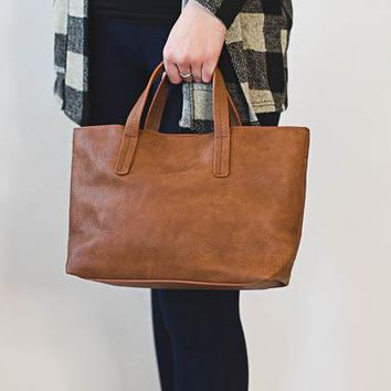 Kelsey Mini Tote - Saddle