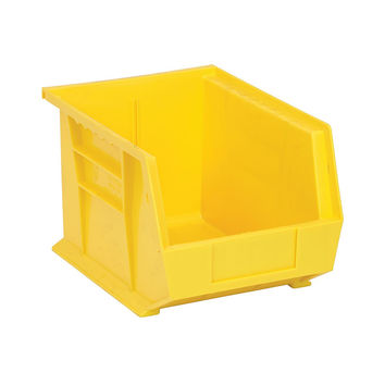 Quantum Storage Systems Ultra Stack And Hang Bin 10-3/4Lx 8-1/4Wx 7H - Yellow Pack Of 6