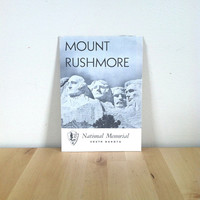 Mount Rushmore National Memorial in South Dakota Travel Booklet {1956} Vintage Paper Ephemera