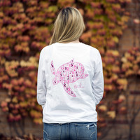 Limited Edition Ribbon Print Breast Cancer Awareness Shirt