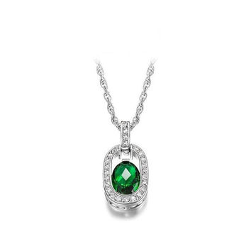 Stylish New Arrival Gift Shiny Accessory Jewelry Green Necklace [9281915396]