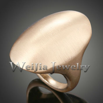 Spring 2014 18K Gold / Silve Plated Fashion Ring With Drawbench Satin Design Finger Rings For Women FREE SHIPPING J01886