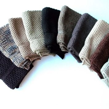 Dishcloths knit in cotton by The Needle House Brown Bundle