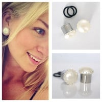"1/2"" 9/16"" 5/8"" 7/8"" WHITE Pearl Gauges Plugs 12mm 14mm 16mm 0g 00g"