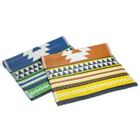 aztec reversible woven mat|Five Below
