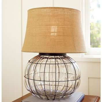 Caged Glass Table Lamp | Pottery Barn