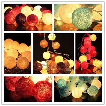 20 Cotton Ball Fairy String Lights Party Patto Holiday Wedding Bedroom Decor [7981613191]