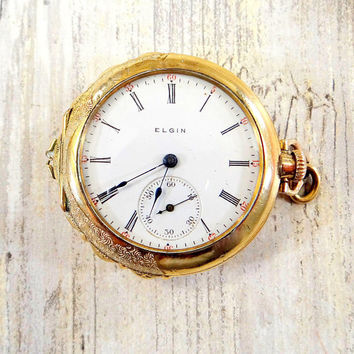 Antique Womens Pocket Watch by Elgin from 1904