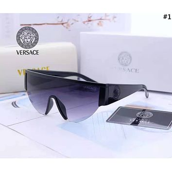 Versace 2019 new women's retro large frame connected polarized sunglasses #1