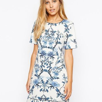 Oasis | Oasis Botanical Shift Dress at ASOS