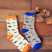 Men & Women Dachshund Long Socks