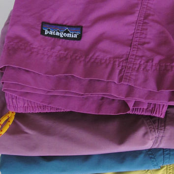 Raspberry Sherbet Purple Shorts Vintage Patagonia Shorts Womens Patagonia Baggies Womens Shorts Trending on Etsy