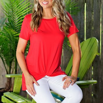 * Jacky Knot Tee : Red