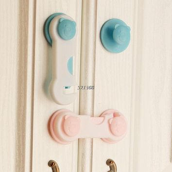 Children Drawer Cupboard Refrigerator Door Desk Plastic Protection Locking Baby Kids Straps Safety Cabinet Locks