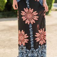 In Bloom Floral Maxi Skirt