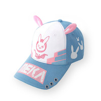 DVA overwatch rabbit ear cap cute cap for women japanese Comic hot sale D.va Baseball cap