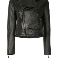 Aula Belted Leather Jacket - Farfetch