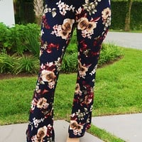 Flower Vibes Pants: Multi