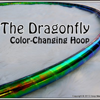 "NEW - ToP SELLER CoLoR-CHaNGiNG 'DRAGONFLY' Hula Hoop // Free Inside Grip Option // Polypro Or 1/2"" Advanced Tubing."