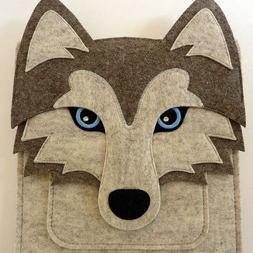 Siberian husky MacBook Pro 13 inch case - Felt laptop case