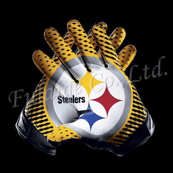 Pittsburgh Steelers Glove 3x5 ft flag 100D Polyester flag 90x150cm NFL custom american football gloves flag