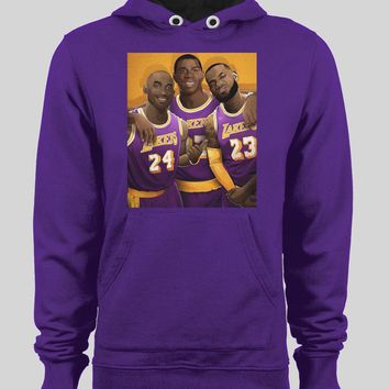 LAKER'S LEGENDS LEBRON JAMES, MAGIC JOHNSON, & KOBE BRYANT BASKETBALL WINTER HOODIE