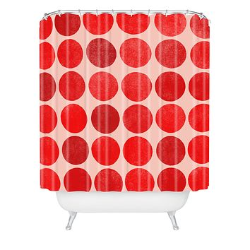 Garima Dhawan Colorplay Red Shower Curtain