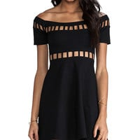 Motel Dench Dress in Black