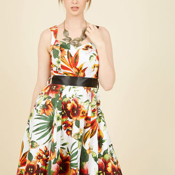 Luau or Never Floral Dress
