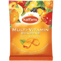 Kalfany Multi-Vitamin Bonbons/ Hard shell fruit candies -Made in Germany-250g