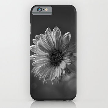 HIGH QUALITY Floral iPhone CASE - iPhone6 iPhone6 Plus iPhone5 Slim and Tough options available - Floral Design - Daisy - Black and White