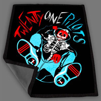 Twenty One Pilots Skull Blanket Fleece Design Bedding Quilt Throw Blankets