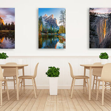 Set of Three 3 Canvas Prints, Yosemite Photo On Canvas Gift Set, Yosemite National Park Collection, Vertical Art, California Wall Decor Set