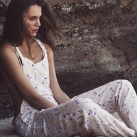 The Girl and The Water - ACACIA Swimwear - Canggu Overalls / Island Orchid - $319