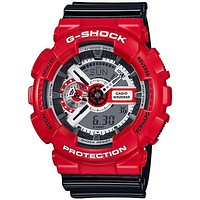 Casio Mens G-Shock - Red Case - Black Strap - Analog - Digital - 200m