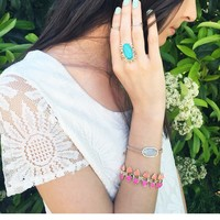 Robby Link Bracelet in Pink Hibiscus - Kendra Scott Jewelry