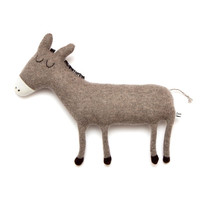Donald the Donkey Lambswool Plush Toy - In stock