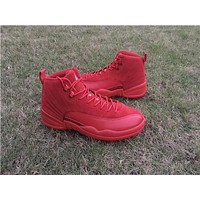 Air Jordan 12 red Basketball Shoes 41-47